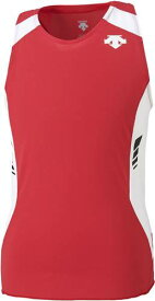 【DESCENTE】デサント DRN4702-RDWH 【メンズ ランニングウェア】 ランニングシャツ ランニングTシャツ/ランニングノースリーブ/男性用 【RCP】