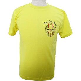 ※受注生産[納期目安:約1ヶ月]※キャンセル不可【JUIC】ジュウィック 5600YL エンブレムT [イエロー] (卓球Tシャツ/ゲームシャツ) (※他のカラーは別ページで販売中)【卓球用品】ウェア/卓球ユニフォーム/卓球/ユニホーム【RCP】