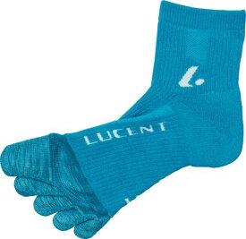 【LUCENT】ルーセント XLN4007 レディース 5本指ソックス ターコイズ [ターコイズ] 【テニス/ソックス】 年度:19SS 【RCP】