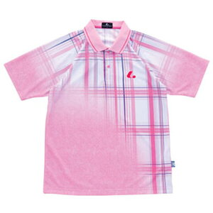 【LUCENT】ルーセントXLP8082UNIゲームシャツ(パステルピンク)[テニス/ゲームシャツ]年度:15SS【RCP】