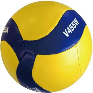 【MIKASA】ミカサV455W バレーボール 練習球4号 レクレーション縫い バレー4号 レクリエーション [黄/青][バレーボール]【RCP】