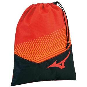 ◆MIZUNO◆ミズノ 33JM0413-62 シューズ袋[レッド×ブラック]【卓球用品】ケース/バッグ/バック/スポーツ/テニス/バドミントン【RCP】