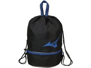 ◆MIZUNO◆ミズノ N3JD0001-91 プールバッグ [ブラック×ブルー] 【水泳/スイミング/プール/トレーニング/練習/部活/鞄/かばん/バック/小物/10L】 【RCP】