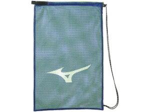 ◆MIZUNO◆ミズノ 33JM9431-27 メッシュバッグLヒモをデザイン性のある組紐へ変更。[ブルー×ライム]【水泳用品】ケース/バッグ/バック/スポーツ/テニス/バドミントン【RCP】
