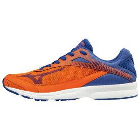 【一部完了】■送料無料■◆MIZUNO◆ミズノ J1GA1884-53 SONIC RUSH WIDE ソニックラッシュWIDE[ブルー×オレンジ]土でも道でも芝生でも。全方向にグリップ力◎。【陸上・ランニング】シューズ/靴/ランニングシューズ/マラソン/トレーニング【RCP】