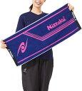【Nittaku】ニッタク NL-9234-LM2 ラインミッドタオル [ブルーXピンク]【卓球用品】卓球用タオル/バンド類【RCP】