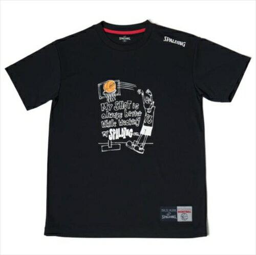 ▼SPALDING▼スポルディング SMT180210-BK Tシャツ MESSAGE SHOT [BK ブラック][Basketball/バスケットボール/ウェア][年度:18SS]