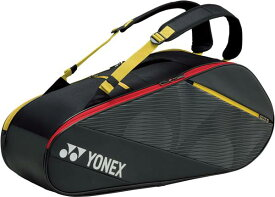 【YONEX】ヨネックス BAG2012R-400 ラケットバッグ6 テニス6本用 [ブラック/イエロー] [テニス/バッグ] 【RCP】