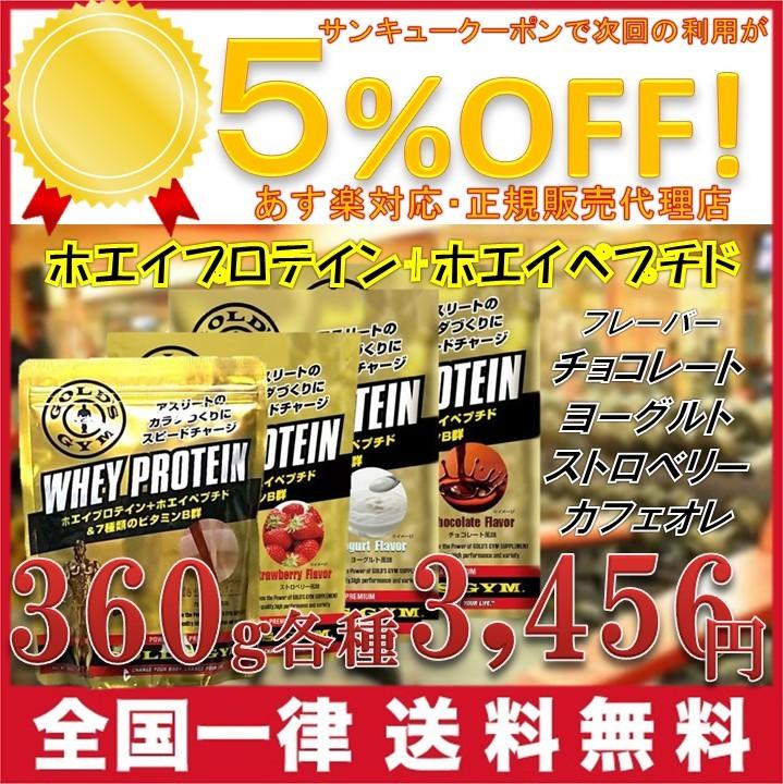 ゴールドジム プロテイン 360g GOLD's GYM ホエイプロテイン 各種