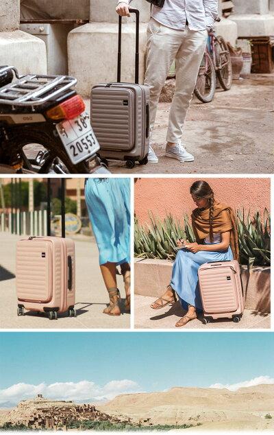 【送料無料】【機内持ち込み可能】ロジェール(LOJEL)CUBO-Sフロントオープンキャリー37LジッパーキャリーTSAロックスーツケースハード容量拡張(フロントオープン旅行キャリーケースかわいいおしゃれキャリーバッグ)