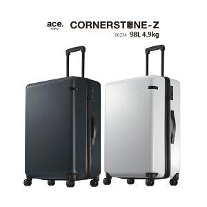 エース ace. TOKYO コーナーストーンZ CORNERSTONE-Z 06234 98L ジッパーキャリー スーツケース TSAロック ( 旅行 おしゃれ 4輪 バッグ 海外旅行 キャリー キャリーケース ケース スーツ キャリーバッグ a