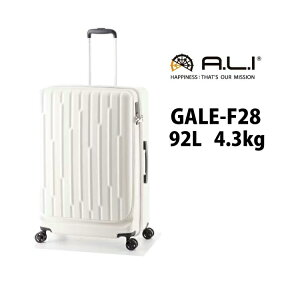 ALI ゲイル GALE-F28 92L アジアラゲージ フロントオープン ジッパーキャリー スーツケース ( 旅行 バッグ キャリー キャリーケース ケース スーツ キャリーバッグ サイズ L フロント ビジネス フ