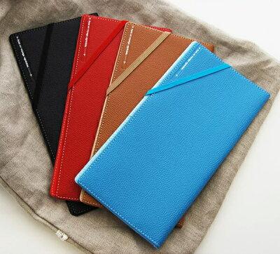 スキミングブロックトラベルパスポートケース・皮革調R【選べる4色♪ICチップ内蔵のパスポート・カードに対応!】