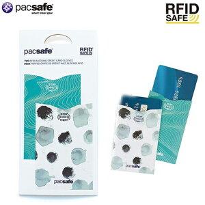 Pacsafe RFIDセーフ Sleeve25 W 2pcs( 旅行 便利グッズ スキミング防止 おしゃれ 防犯グッズ トラベル ケース グッズ 海外旅行グッズ 旅行グッズ スキミング カード 防犯 カードケース カード入れ 対