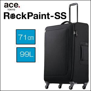 ace. TOKYO エース ソフトキャリー ロックペイントSS 35704 99L 3.3kg(スーツケース かわいい ソフトキャリーケース 4輪 ソフト キャリーケース バッグ おしゃれ キャリー ace ソフトキャリーバッグ