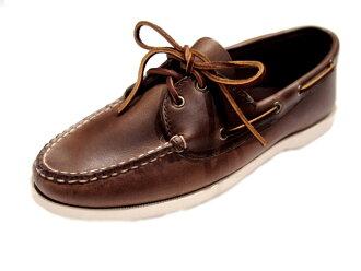 高地 (高地) / 2 小孔 BOATSHOE (船鞋) /Made 在 U.S.A./dark 谭