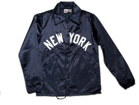 EBBETS FIELD(エベッツフィールド)/別注 60's VINTAGE SATIN COACH JACKET(コーチジャケット)/NEW YORK x POLO GROUNDS/navy