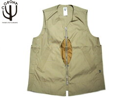 【期間限定30%OFF!】CORONA(コロナ)/#CV032-17-02 T/C WEATHER CLOTH EXPLORER'S UTILITY OUTER VEST/beige
