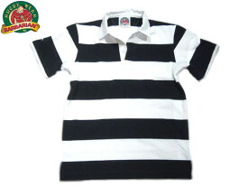 BARBARIAN(バーバリアン)/PLAIN 3INCH BORDER S/S RUGBY JERSEY/black x white