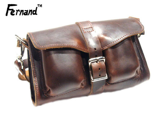 FERNAND LEATHER(フェルナンドレザー)/3 POCKET PURSE hand made in U.S.A./brown