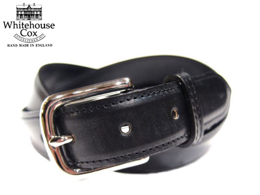 WHITEHOUSE COX(ホワイトハウスコックス)/B8665 28mm BRIDLE LEATHER BELT/black