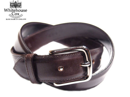 WHITEHOUSE COX(ホワイトハウスコックス)/B8665 28mm BRIDLE LEATHER BELT/brown