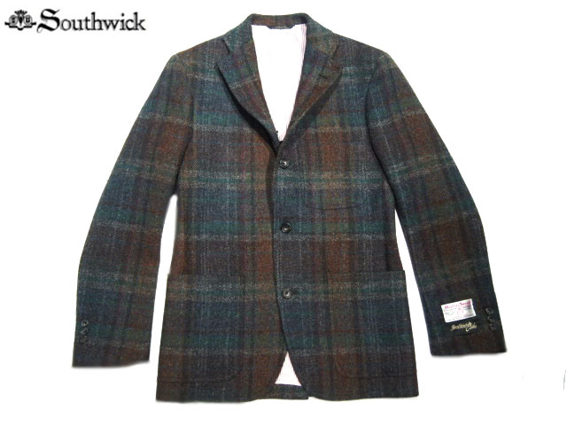 SOUTHWICK(サウスウィック)/CAMBRIDGE HARRIS TWEED JACKET/multi herringbone