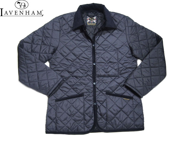 【期間限定20%OFF!】LAVENHAM(ラベンハム)/MEN'S DENHAM(デンハム)QUILTING JACKET (LAVENSTER)/suffolk navy×spring navy