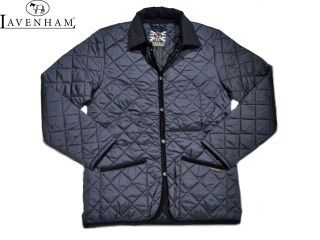 【期間限定20%OFF!】LAVENHAM(ラベンハム)/MEN'S DENHAM(デンハム)QUILTING JACKET (LAVENSTER)/lamp black×black