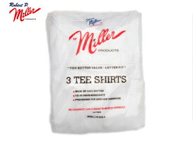 MILLER(ミラー)/#PAN-C SHORT SLEEVE 3 PACK CREW TEE(3パックTEEシャツ)/white/made in U.S.A.
