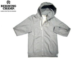 【期間限定30%OFF!】REIGNING CHAMP(レイニングチャンプ)/#3205 MIDWEIGHT TERRY ZIPUP HOODY/heather grey