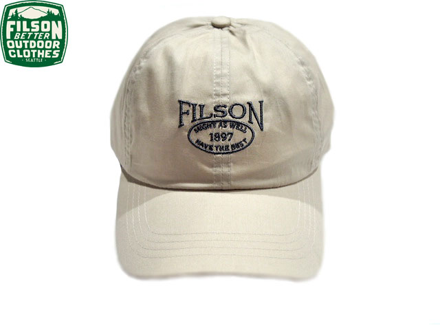 【期間限定30%OFF!】FILSON (フィルソン)#54028 LIGHT WEIGHT ANGLER CAP/ivory