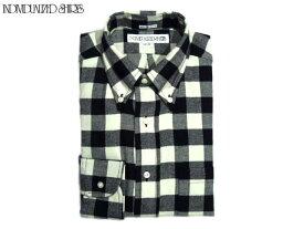 【期間限定20%OFF!】INDIVIDUALIZED SHIRTS(インディビジュアライズド シャツ)/L/S STANDARD FIT B.D. BUFFALOE FLANNEL CHECK SHIRTS(フランネルボタンダウンシャツ)/black x white