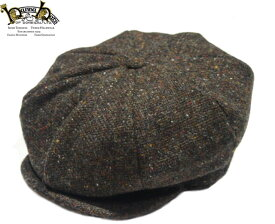 HANNA HAT(ハンナハット)/DONEGAL TWEED 8 PANEL HUNTING CAP(ツイード・ハンティング帽)/brown