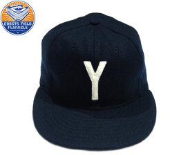 【期間限定30%OFF!】EBBETS FIELD(エベッツフィールドフランネル)/YALE UNIVERSITY 1948 VINTAGE BASEBALL CAP/dark navy