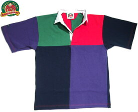 【期間限定30%OFF!】BARBARIAN(バーバリアン)/S/S RSE06 RUGBY JERSEY/pine x red x navy x purple(半袖ラグビーシャツ)