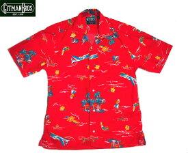【期間限定50%OFF!】GITMAN VINTAGE(ギットマンヴィンテージ)/S/S SURF & TURF CAMP SHIRTS(半袖シャツ)/red