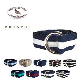 BARRONS HUNTER(バロンズハンター)/GROSGRAIN D-RING RIBBON BELT(グログラン・Dリング・リボンベルト)/made in U.S.A.