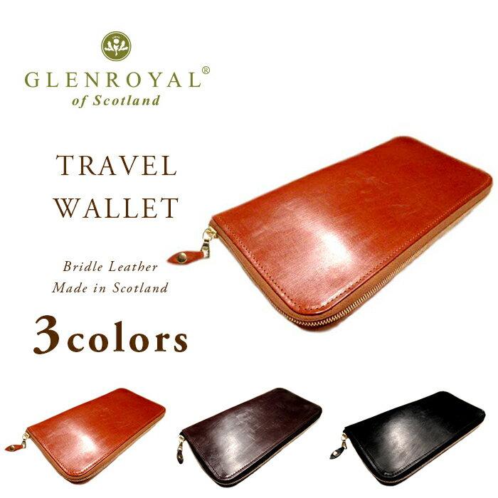 GLENROYAL(グレンロイヤル)/TRAVEL WALLET(トラベルウォレット)/bridle leather