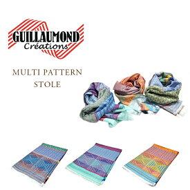 【期間限定30%OFF!】GUILLAUMOND CREATION(ギラモンド クリエーションズ)/MULTI PATTERN STOLE(柄ストール)/Made in France