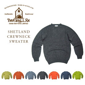 INVERALLAN(インバーアラン)/SHETLAND CREWNECK SWEATER(シェットランドセーター)<PART 2 OF 2> 8 COLOURS