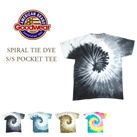 【期間限定50%OFF!】GOODWEAR(グッドウェア)/SPIRAL TIE DYE S/S POCKET TEE(タイダイTEEシャツ) /Made in U.S.A.