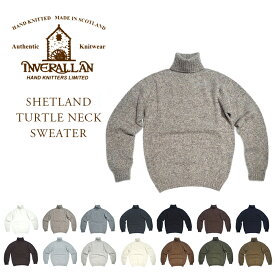INVERALLAN(インバーアラン)/SHETLAND TURTLENECK SWEATER(タートルネックシェットランドセーター)