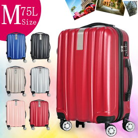 送料無料 人気モデル スーツケース 超軽量 Mサイズ旅行用品 キャリーバック 旅行トランク 旅行ケース 旅行用スーツケース ファスナー スーツケースベルト キャリーケース