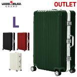スーツケース、L、サイズ、ダブルキャスター、超軽量、ワイドフレーム、フック付台座、ポリカーボネート、ボディ、キャリーケース、キャリーバッグ、旅行用かばん、新作、5601-71、レジェンドウォーカー
