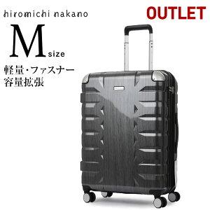 アウトレット スーツケース キャリーバッグ キャリーバック キャリーケース 無料受託手荷物 中型 M サイズ 5泊 6泊 7泊ダブルキャスター 送料無料 エース ヒロミチナカノ HIROMICHI NAKANO B-AE-06772