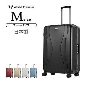 スーツケース 機内持込 Mサイズ キャリーケース キャリーバッグ ワールドトラベラー World Traveler KOVALAM コヴァーラム 3泊 4泊 5泊 フレームタイプ ハードケース TSAダイヤル式ロック あす楽 送