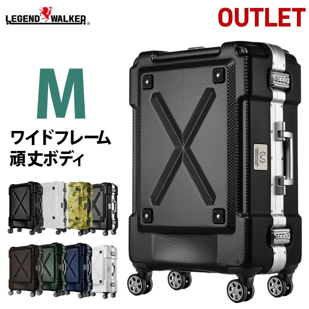 スーツケース キャリーケース キャリーバッグ M サイズ 超軽量 PC100%素材 フレーム キャリーバック 旅行用かばん 中型 5日 6日 7日 無料受託手荷物 アウトレット 訳あり 158cm 以内 アウトドア『B-6302-62』