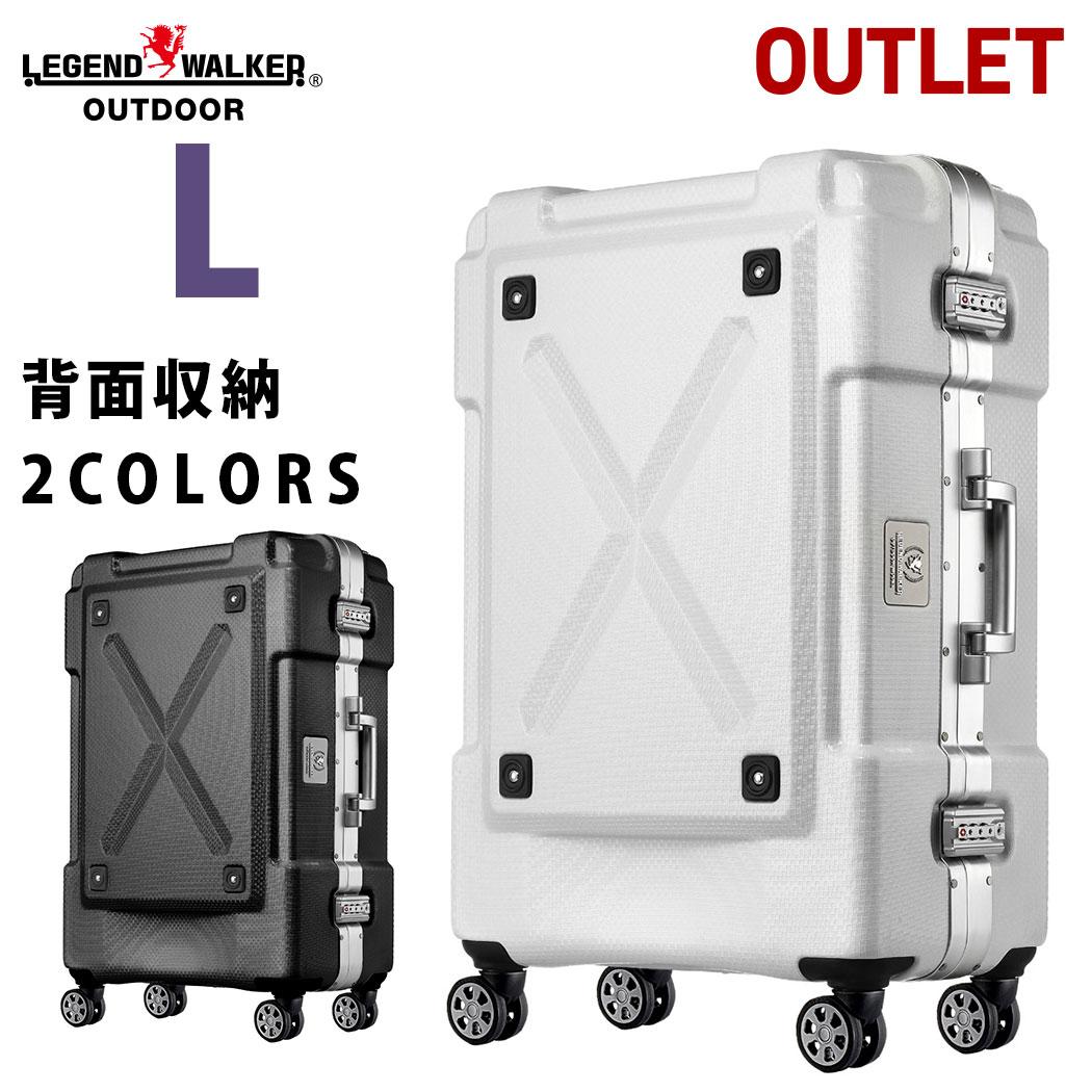 アウトレット 訳あり スーツケース キャリーケース キャリーバッグ L サイズ 超軽量 PC100%素材 フレーム キャリーバック 旅行用品 大型 新作 7日 8日 9日 無料受託手荷物 158cm 以内 アウトドア『B-6303-69』