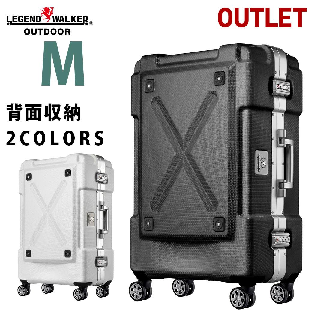 アウトレット 訳あり スーツケース キャリーケース キャリーバッグ M サイズ 超軽量 PC100%素材 フレーム キャリーバック 旅行用かばん 中型 5日 6日 7日 無料受託手荷物 158cm 以内 アウトドア『B-6303-62』